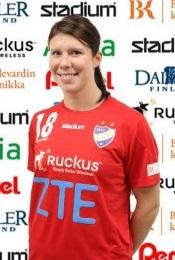 Linda Cainberg innehar mest spelade landslagsmatcher i Finska damlandslagshistoria, Foto: HIFK Damhandboll