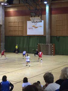 HIFK målvakten Annika Lindström lyckades med några fina parader men även 2 straffar tog hon, Foto: Miro Korja