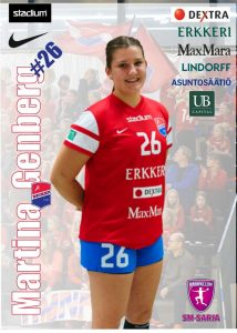 #26 Martina Genberg, Dicken. Photo: nsm.finnhandball.net