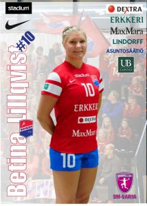 Betina Lillqvist, Dicken. Foto: nsm.finnhandball.net